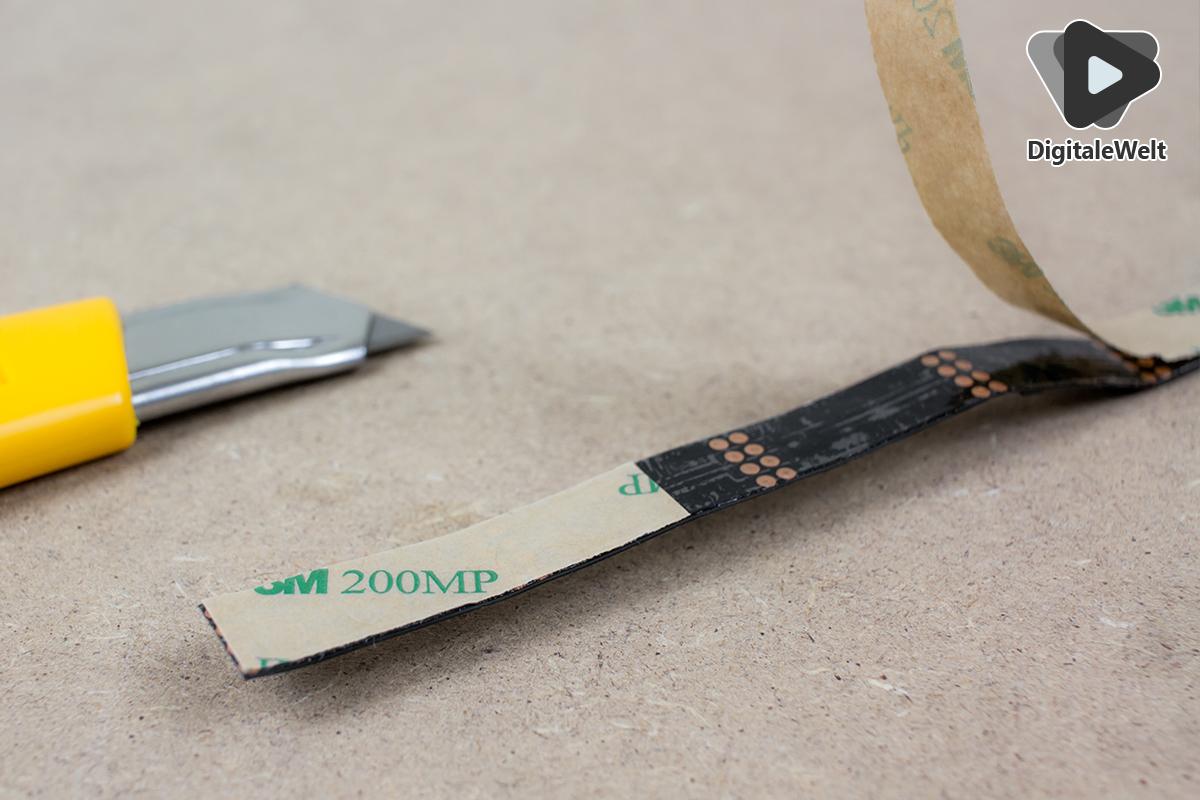 Ambilight Projekt - LED Streifen Ecken nicht abziehen
