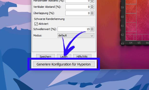 Ambilight Projekt - Konfigurationsdatei generieren