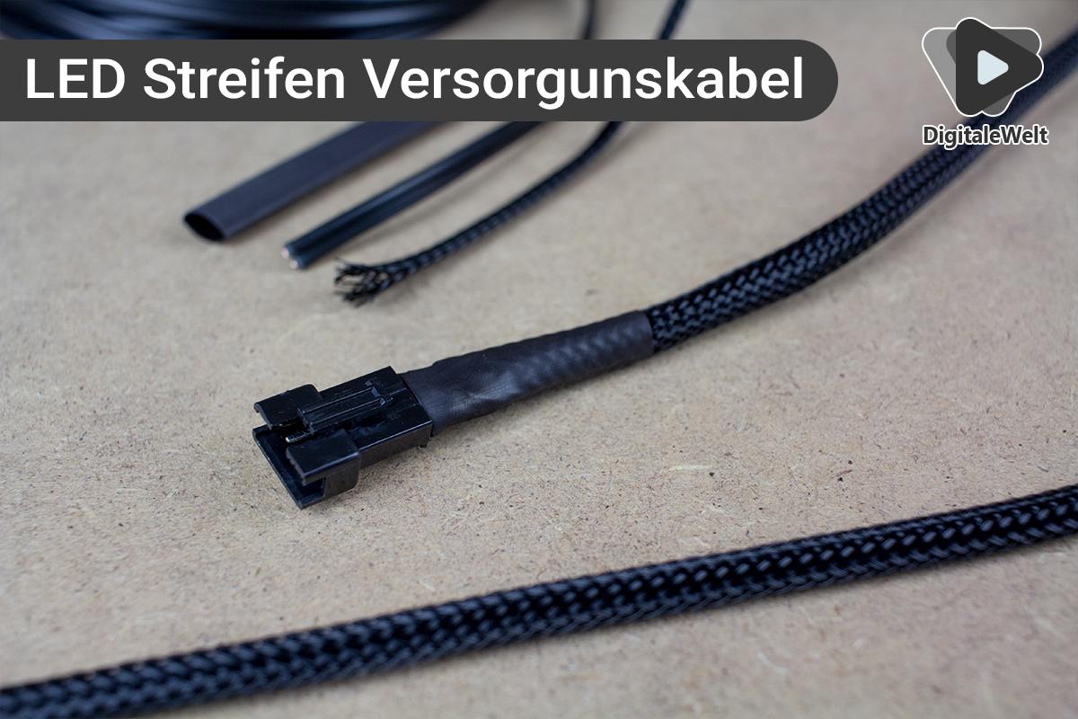 Ambilight Projekt - LED Streifen Verbindungskabel mit Stecker
