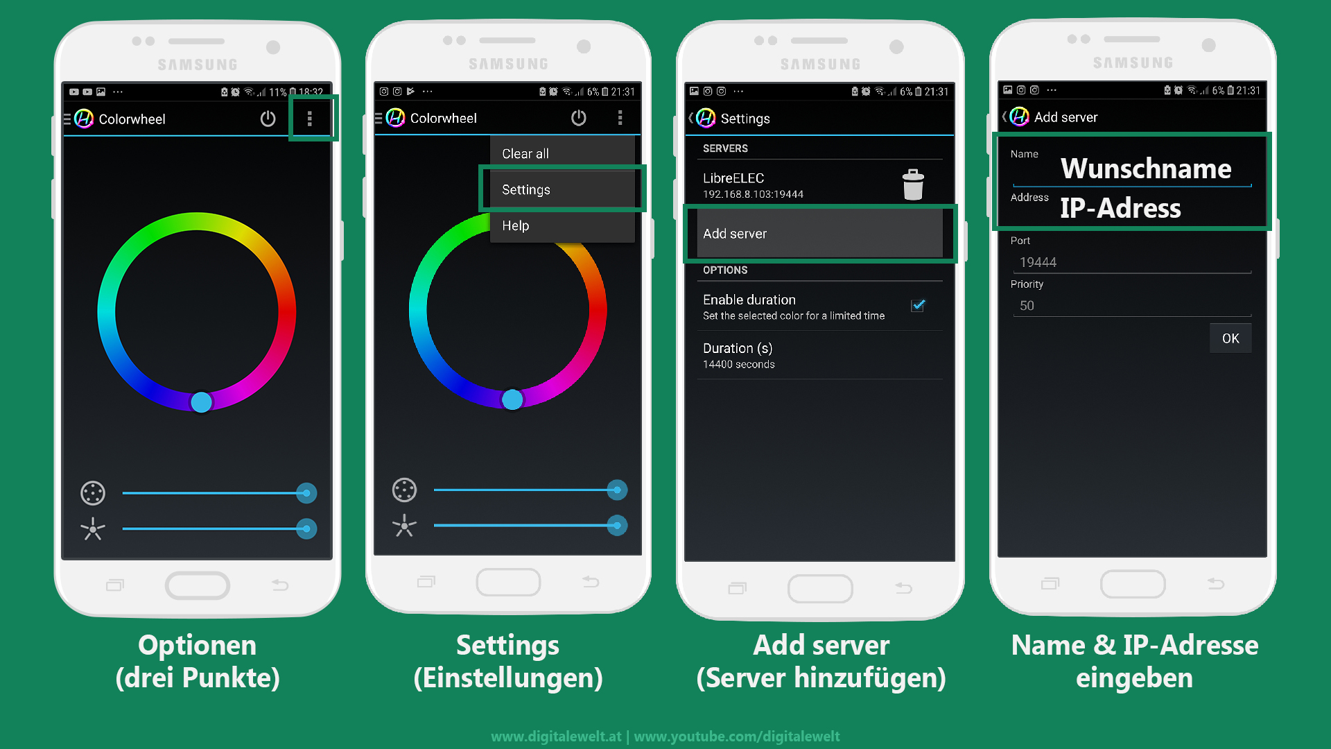 Hyperion App mit Raspberry Pi verbinden