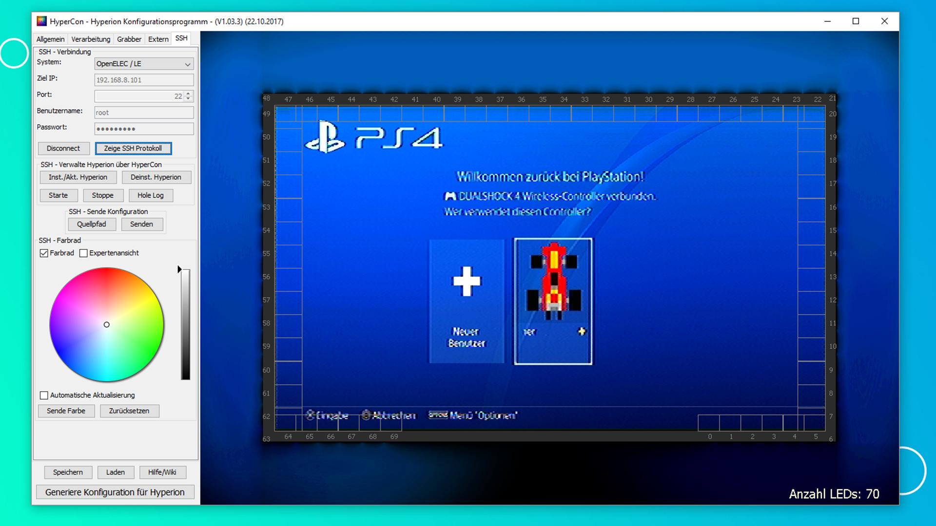 Raspberry Pi Ambilight Projekt - Bild HDMI Quelle