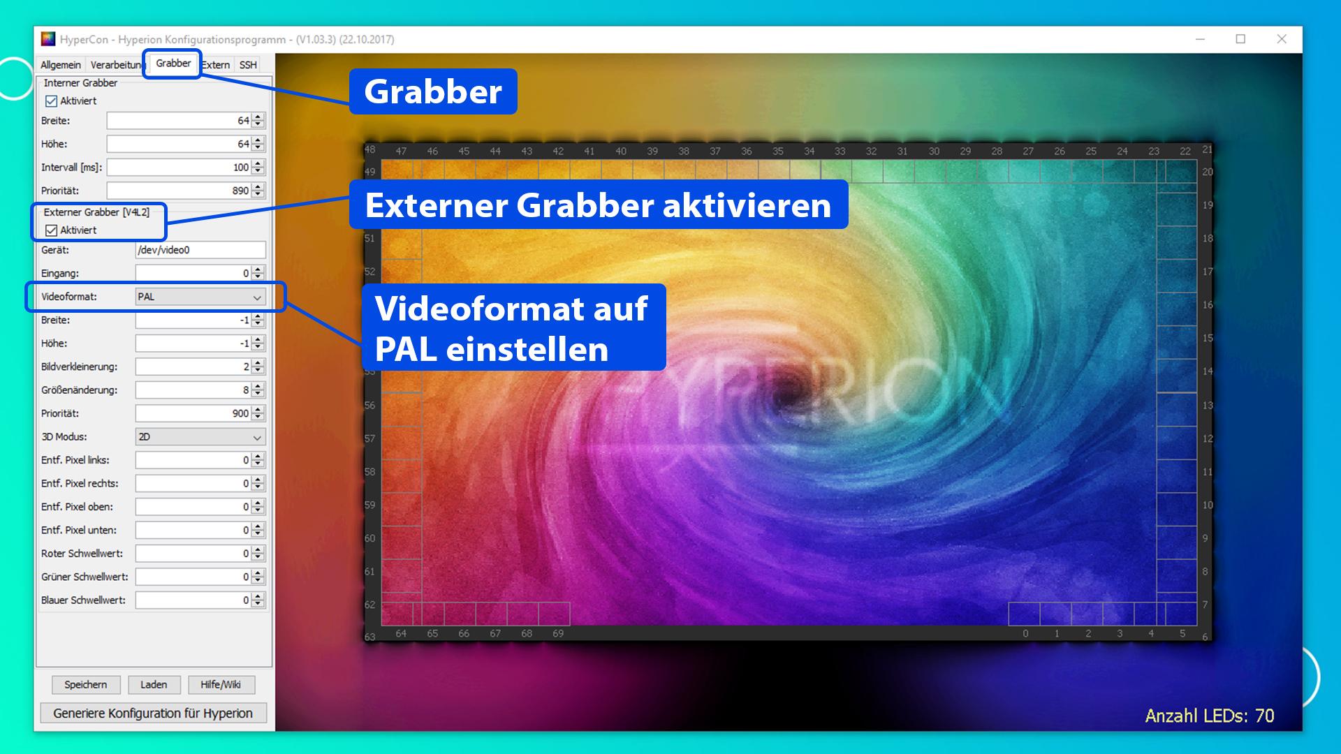 Raspberry Pi Ambilight Projekt - Externen Grabber aktivieren