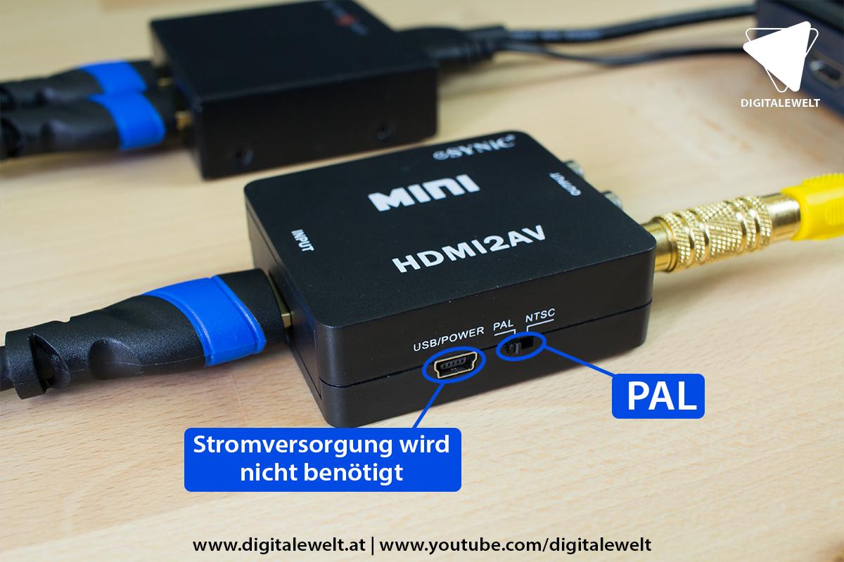 Raspberry Pi Ambilight Projekt - HDMI zu AV Konverter Einstellungen