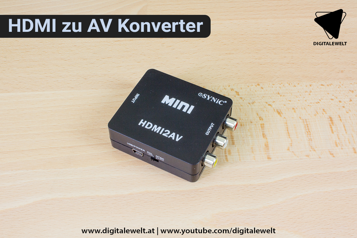 Raspberry Pi Ambilight Projekt - HDMI zu AV Konverter