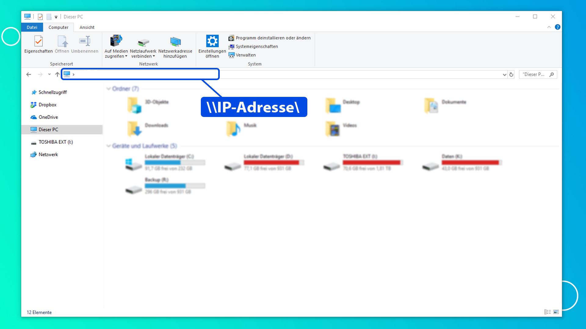 Raspberry Pi Ambilight Projekt - IP-Adresse Explorer