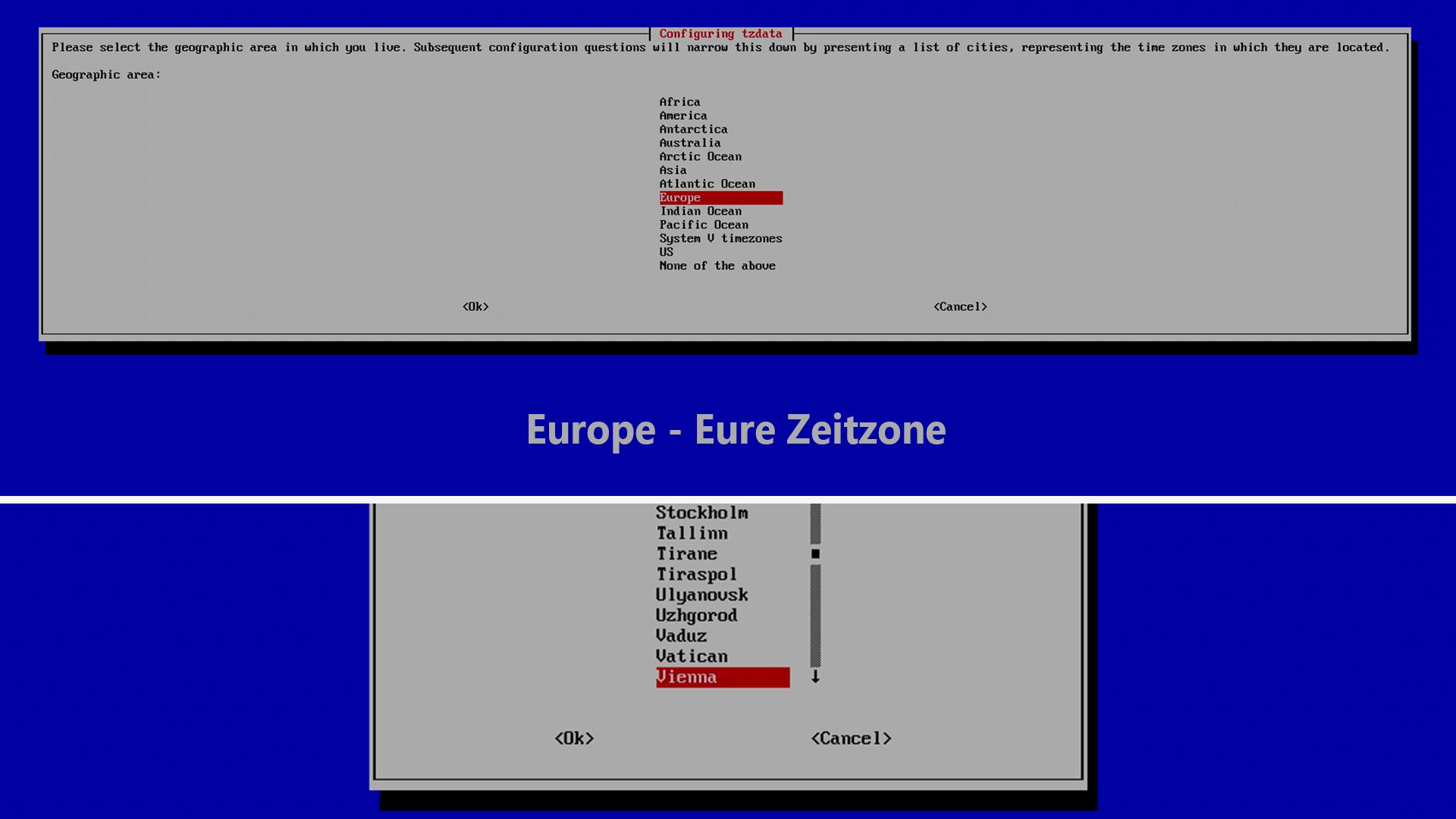 DigitaleWelt RetroPie Anleitung - Europe - Zeitzone
