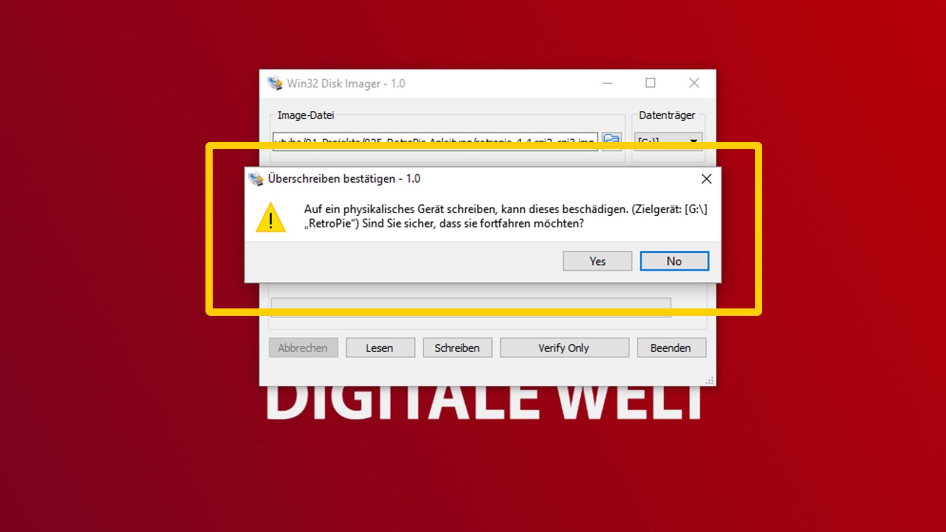 DigitaleWelt RetroPie Anleitung - SD-Karte Daten überschreiben