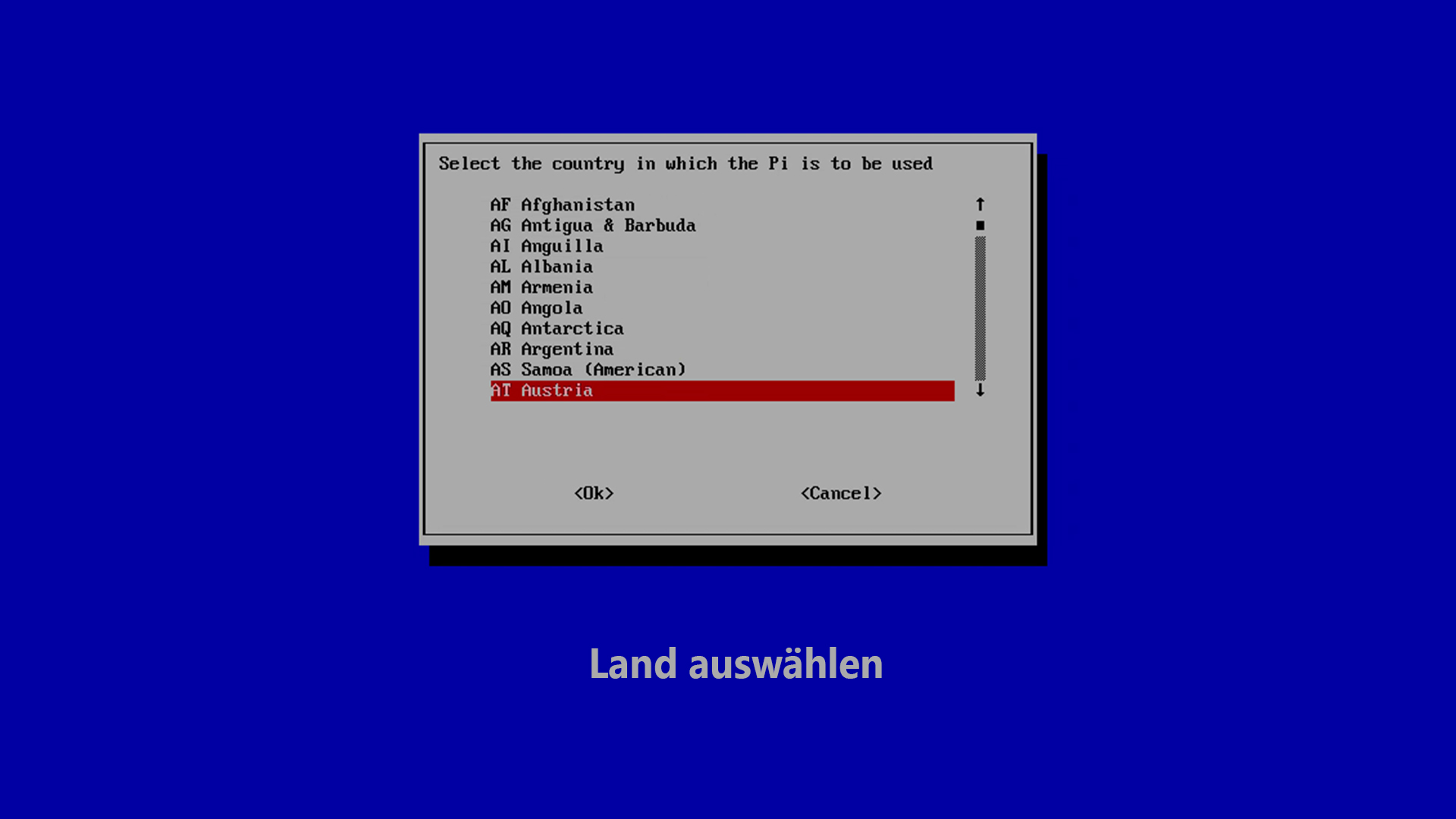 DigitaleWelt RetroPie Anleitung - Wi-fi Land auswählen