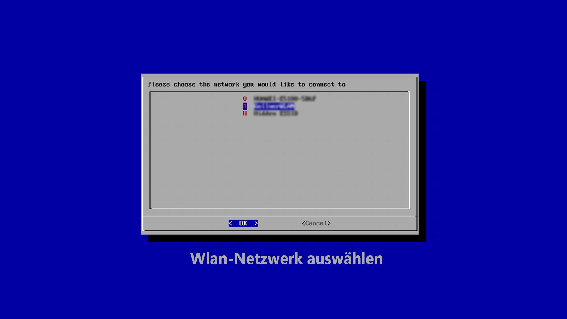 DigitaleWelt RetroPie Anleitung - Wlan-Netzwerk auswählen
