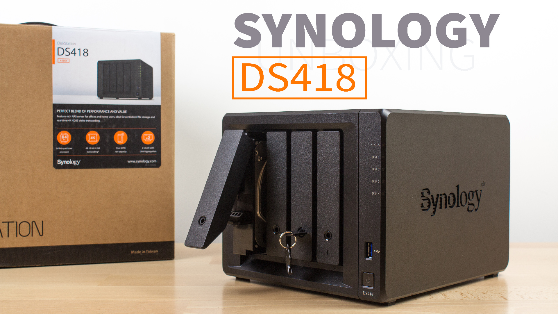 DiskStation DS418 UNBOXING