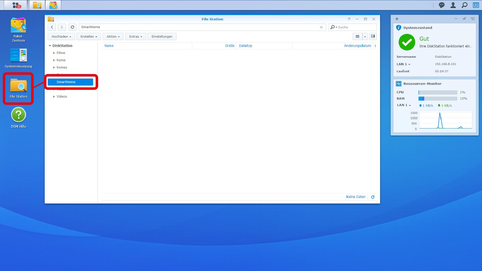 DigitaleWelt openHAB 2 - DiskStation FileStation SmartHome