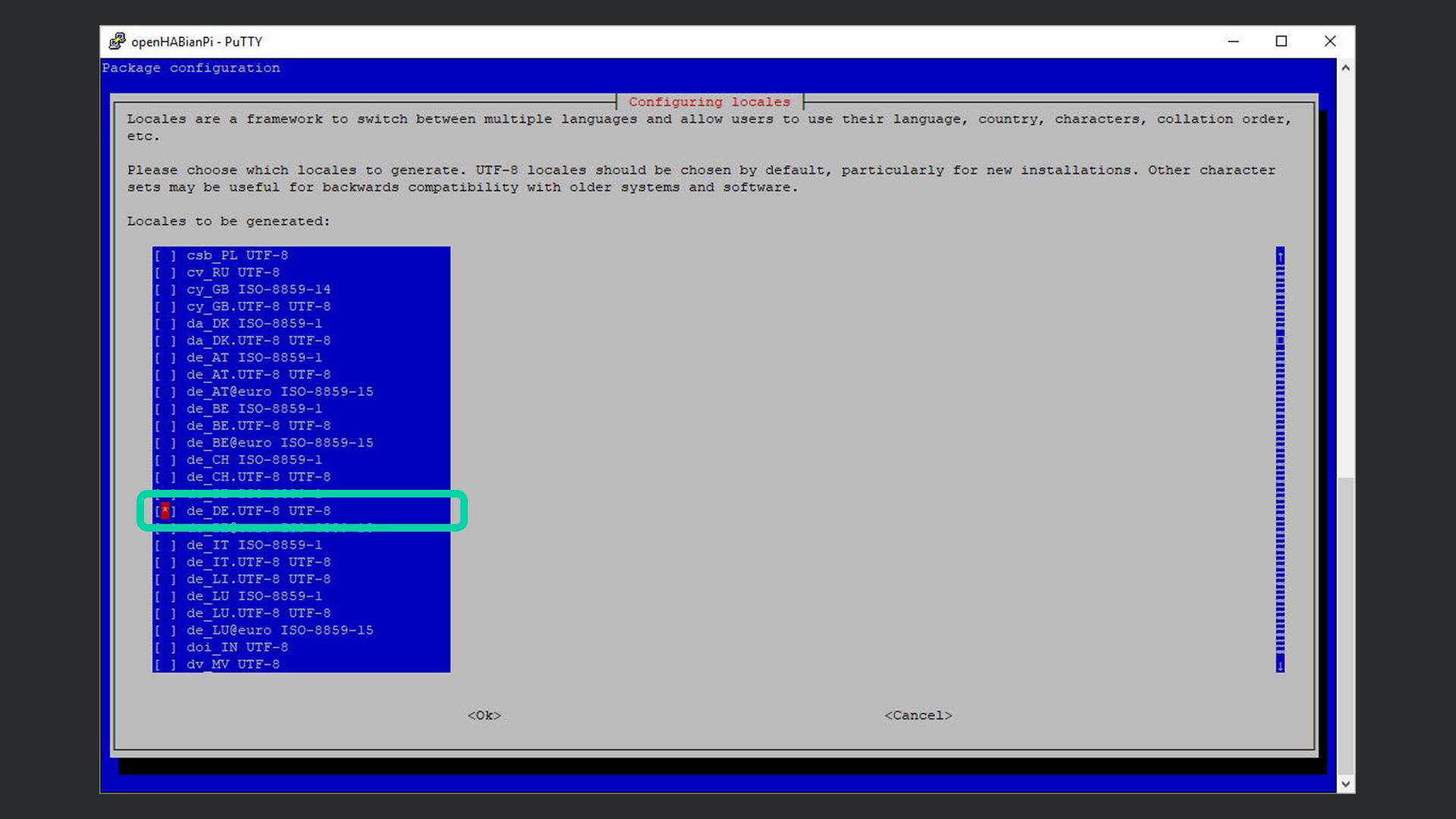 DigitaleWelt openHAB 2 - openHABian Locales de_DE.UTF-8