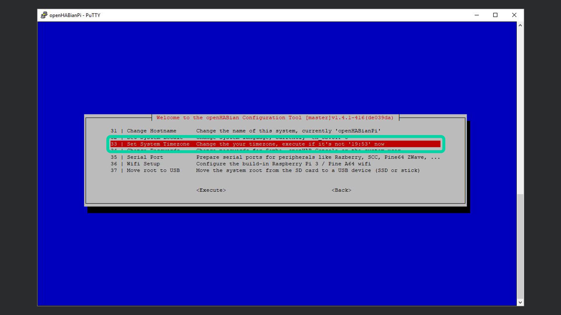 DigitaleWelt openHAB 2 - openHABian Set System Timezone