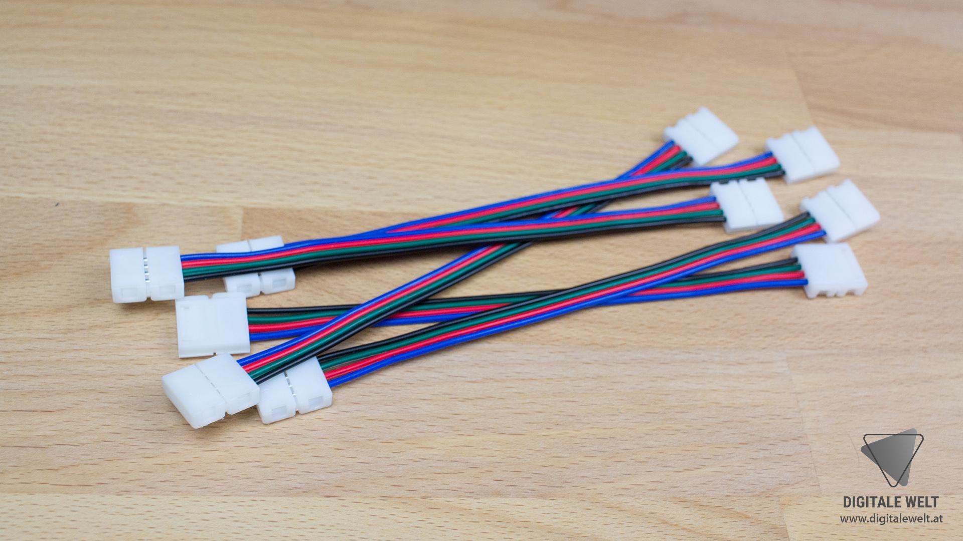 Ambilight ohne Löten - 4-polige Verbindungskabel 10mm (DigitaleWelt)