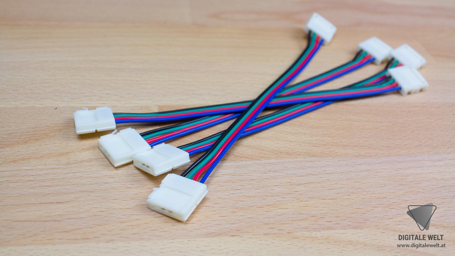 Ambilight ohne Löten - 4-polige Verbindungskabel 12mm (DigitaleWelt)