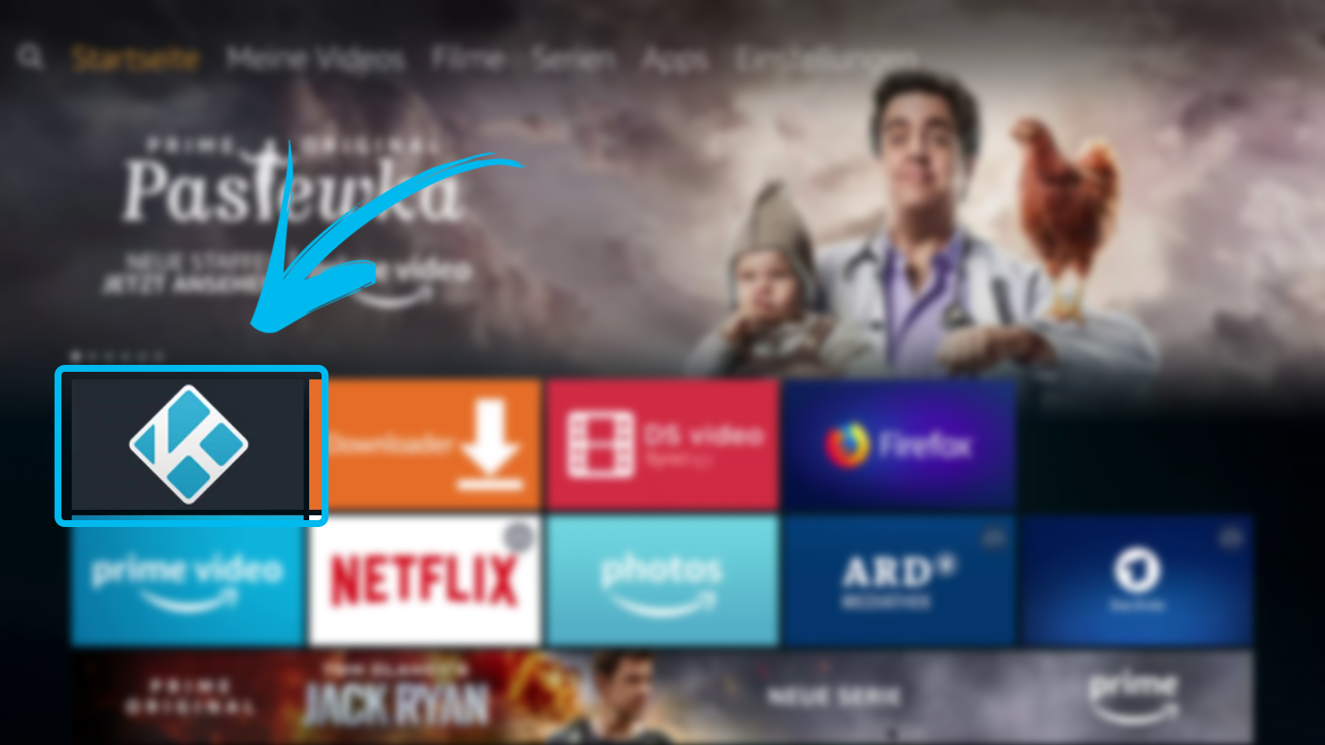Kodi auf FireTV Stick (DigitaleWelt) - Kodi im Fire TV Hauptmenü