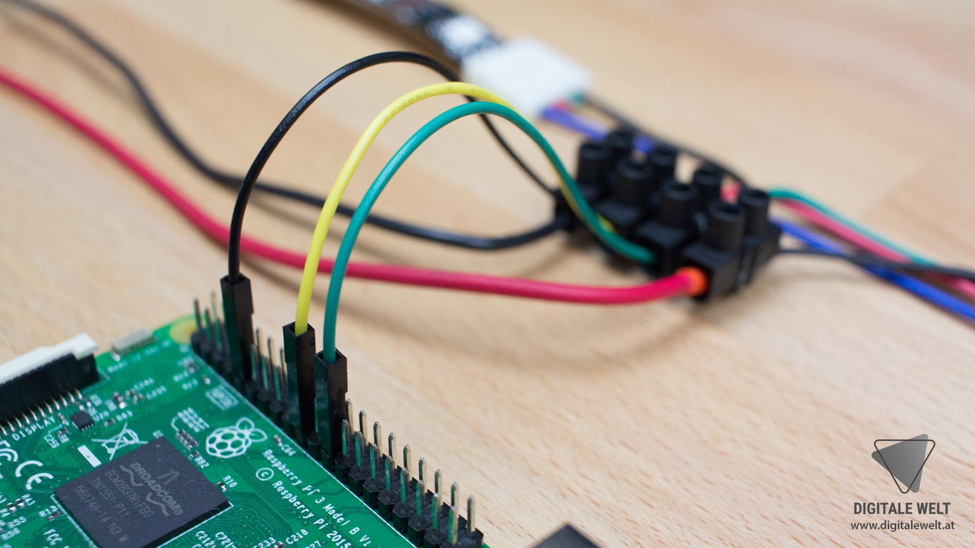 Ambilight ohne Löten - Detail Raspberry Pi (DigitaleWelt)
