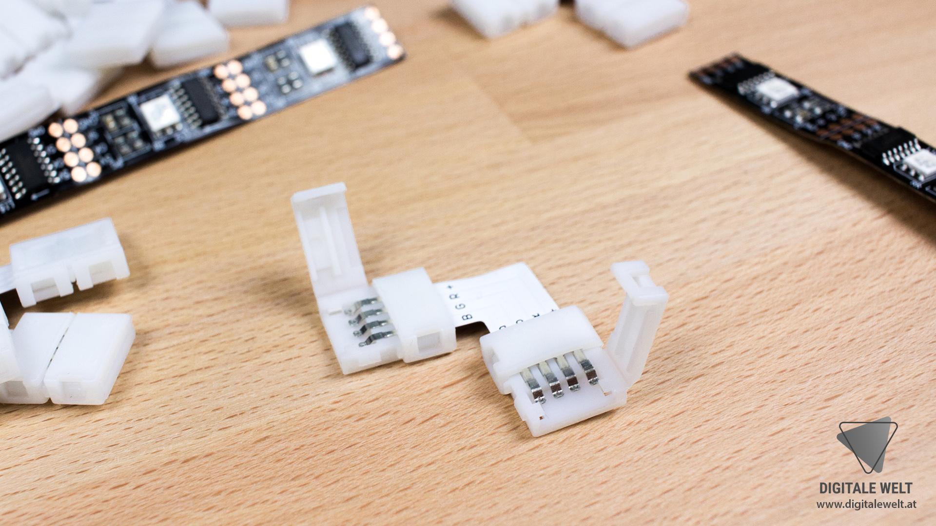 Ambilight ohne Löten - Eckverbinder 10mm offen (DigitaleWelt)