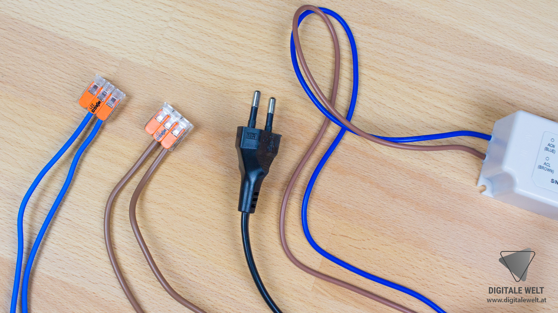 Ambilight ohne Löten - WAGO Klemmen angeschlossen (DigitaleWelt)