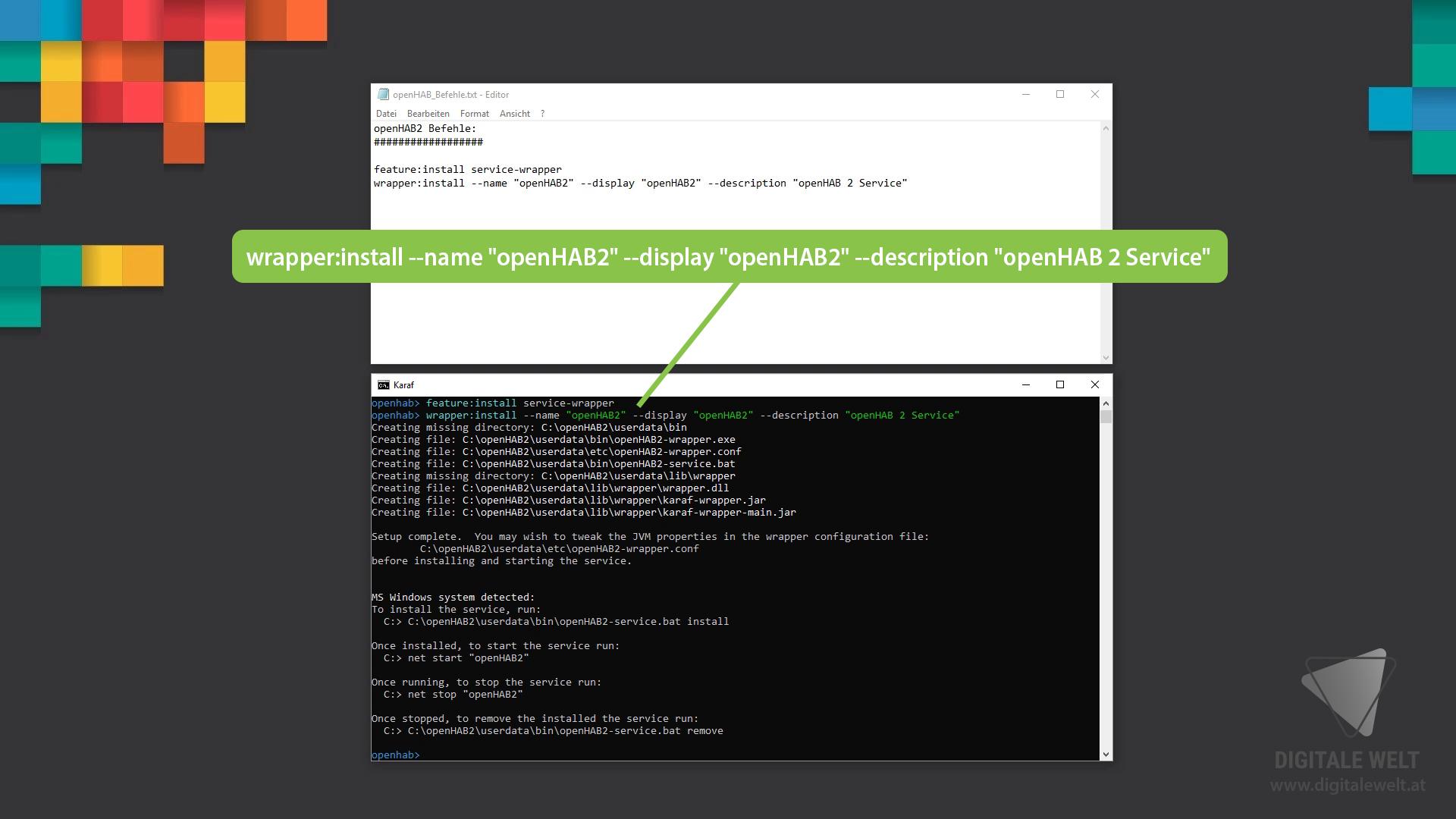 openHAB 2 Windows - Befehl 2 (DigitaleWelt)