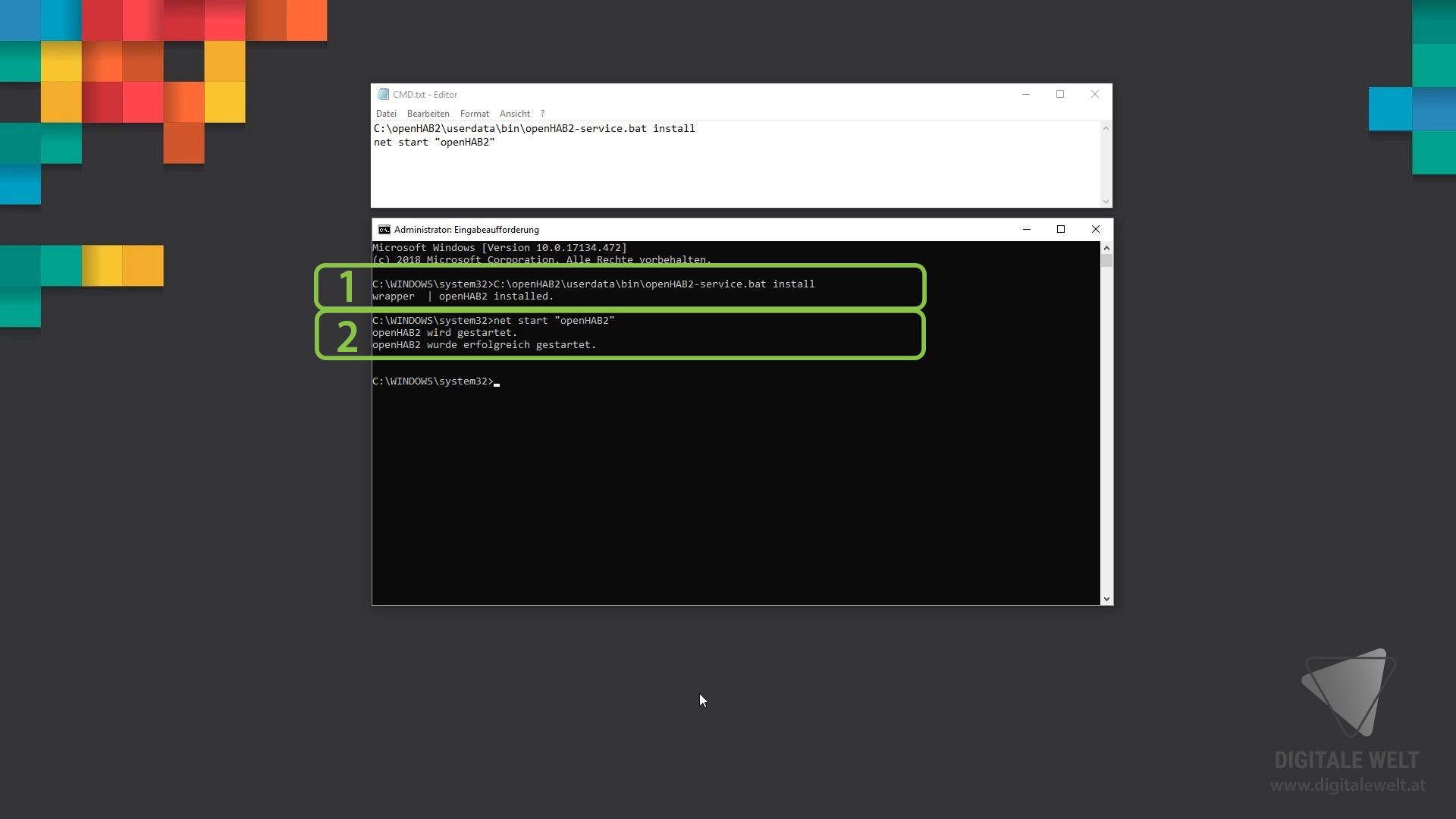 openHAB 2 Windows - CMD Befehle (DigitaleWelt)