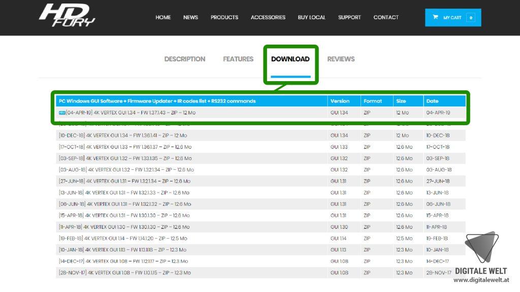 HDFury Vertex Firmware Updater - DigitaleWelt.at