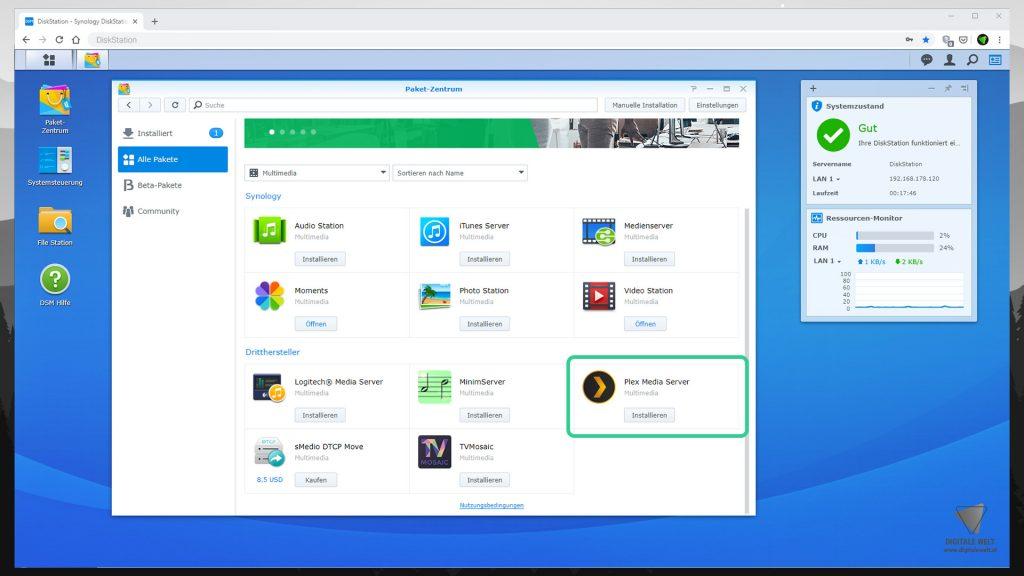 DiskStation Plex installieren & einrichten - Plex Media Server