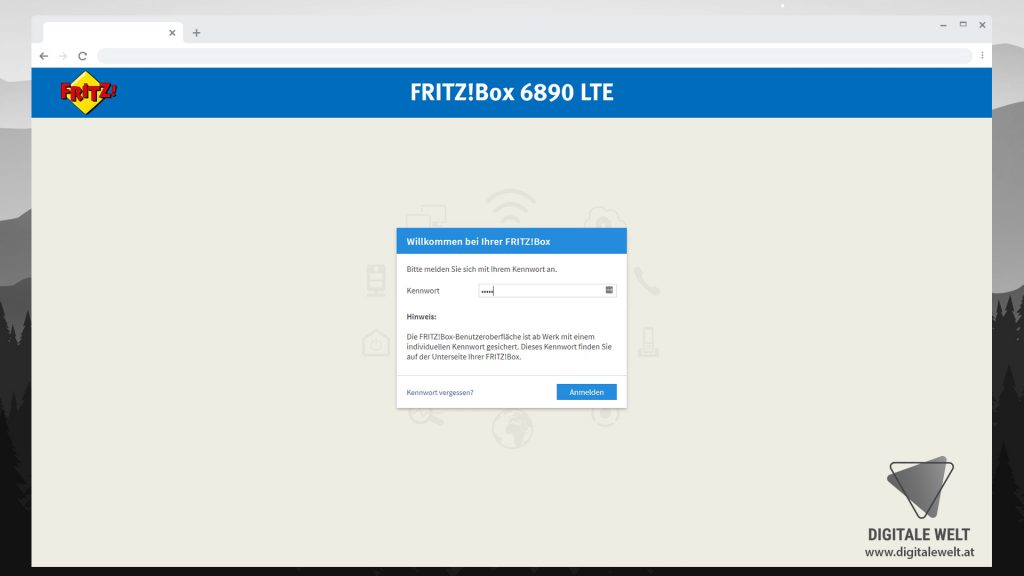 FRITZBOX 6890 einrichten - Anmelden Benutzeroberfläche - digitalewelt.at