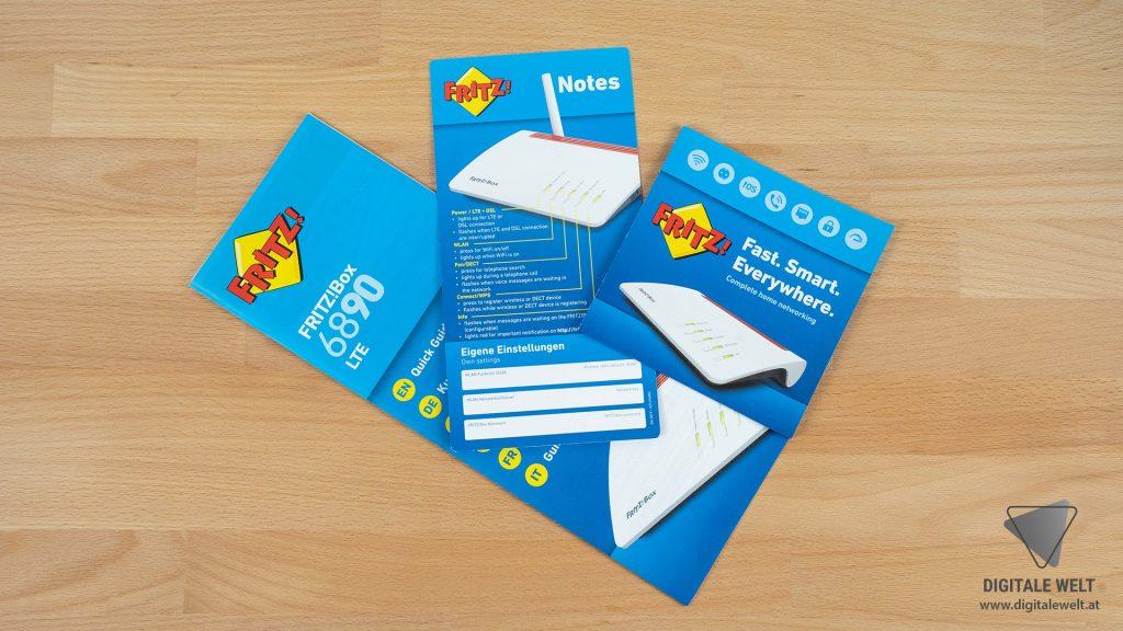 FRITZBOX 6890 einrichten - Lieferumfang Papier - digitalewelt.at