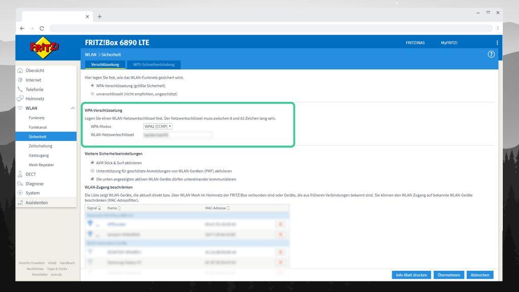FRITZBOX 6890 einrichten - WLAN Passwort - digitalewelt.at
