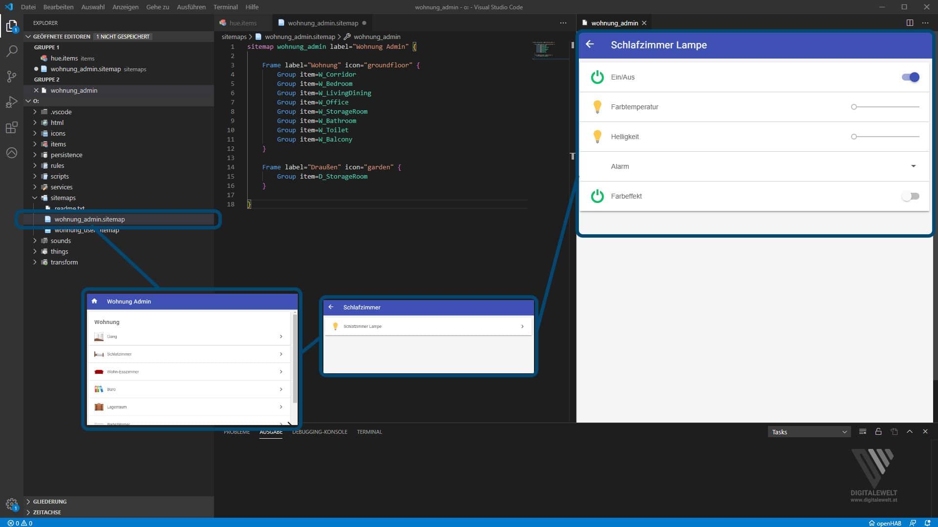 OpenHAB 2 Philips HUE Binding Teil1 – Admin Sitemap – digitalewelt.at