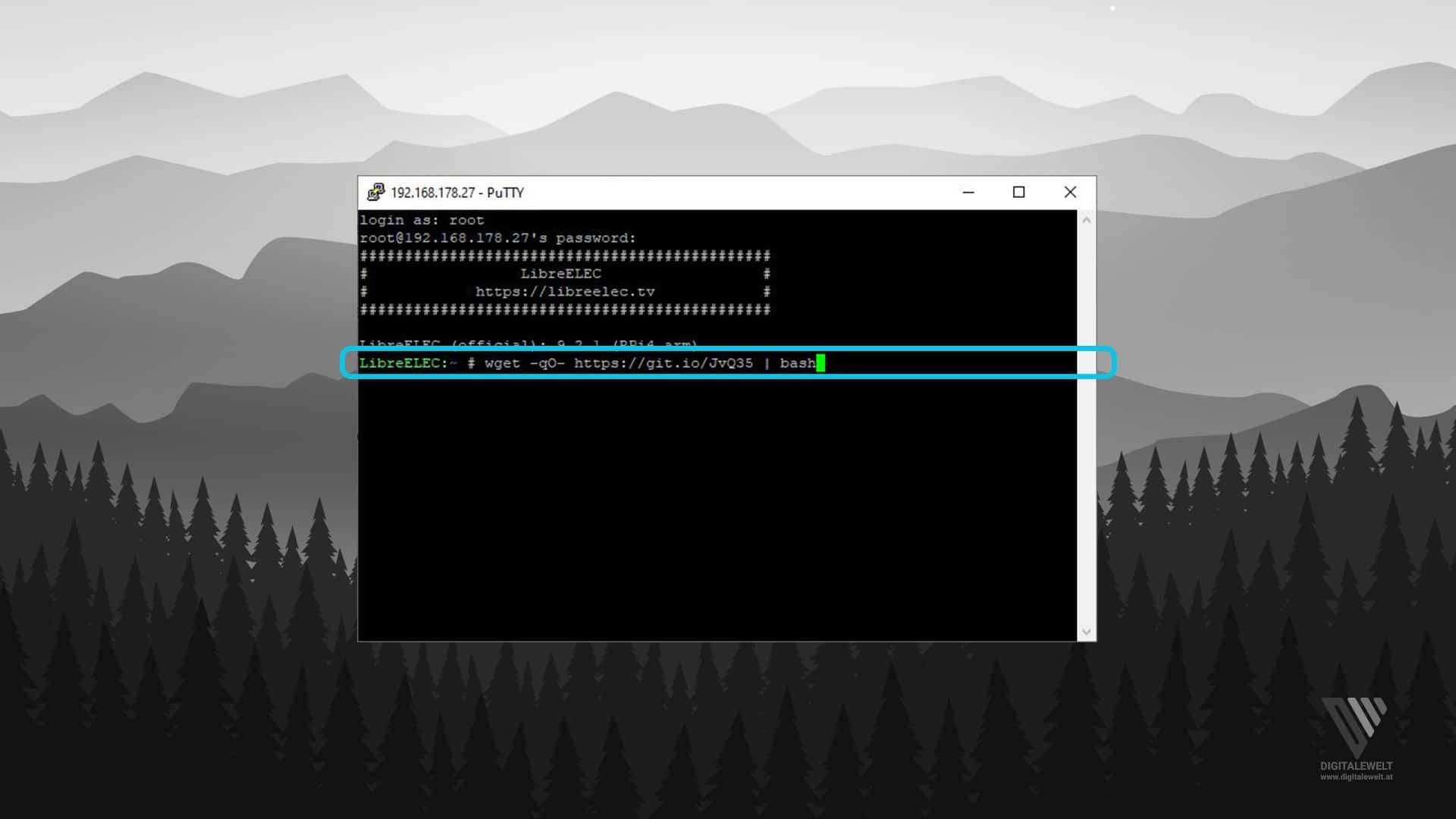 Hyperion.ng installieren - Befehl ausführen - digitalewelt.at