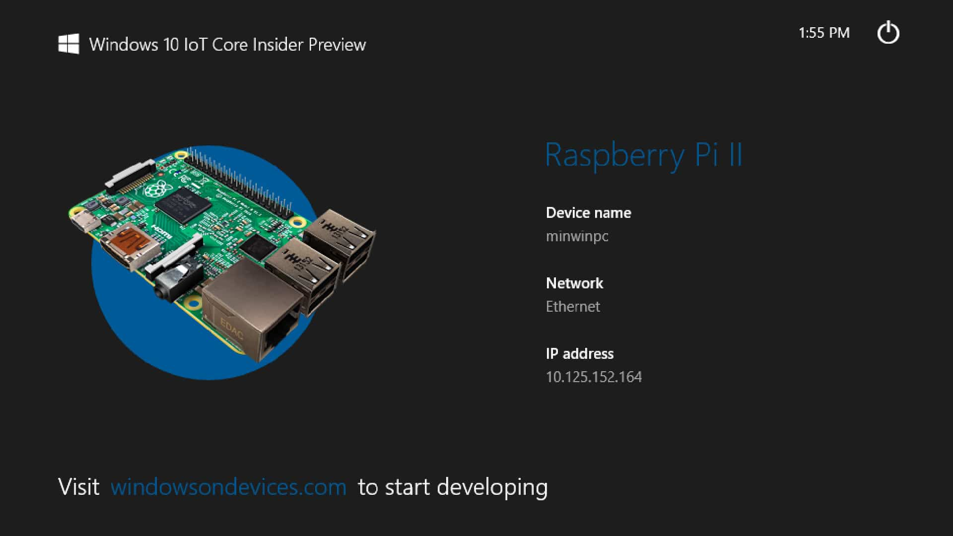Raspberry Pi Betriebssysteme - Windows 10 IoT Core - digitalewelt.at