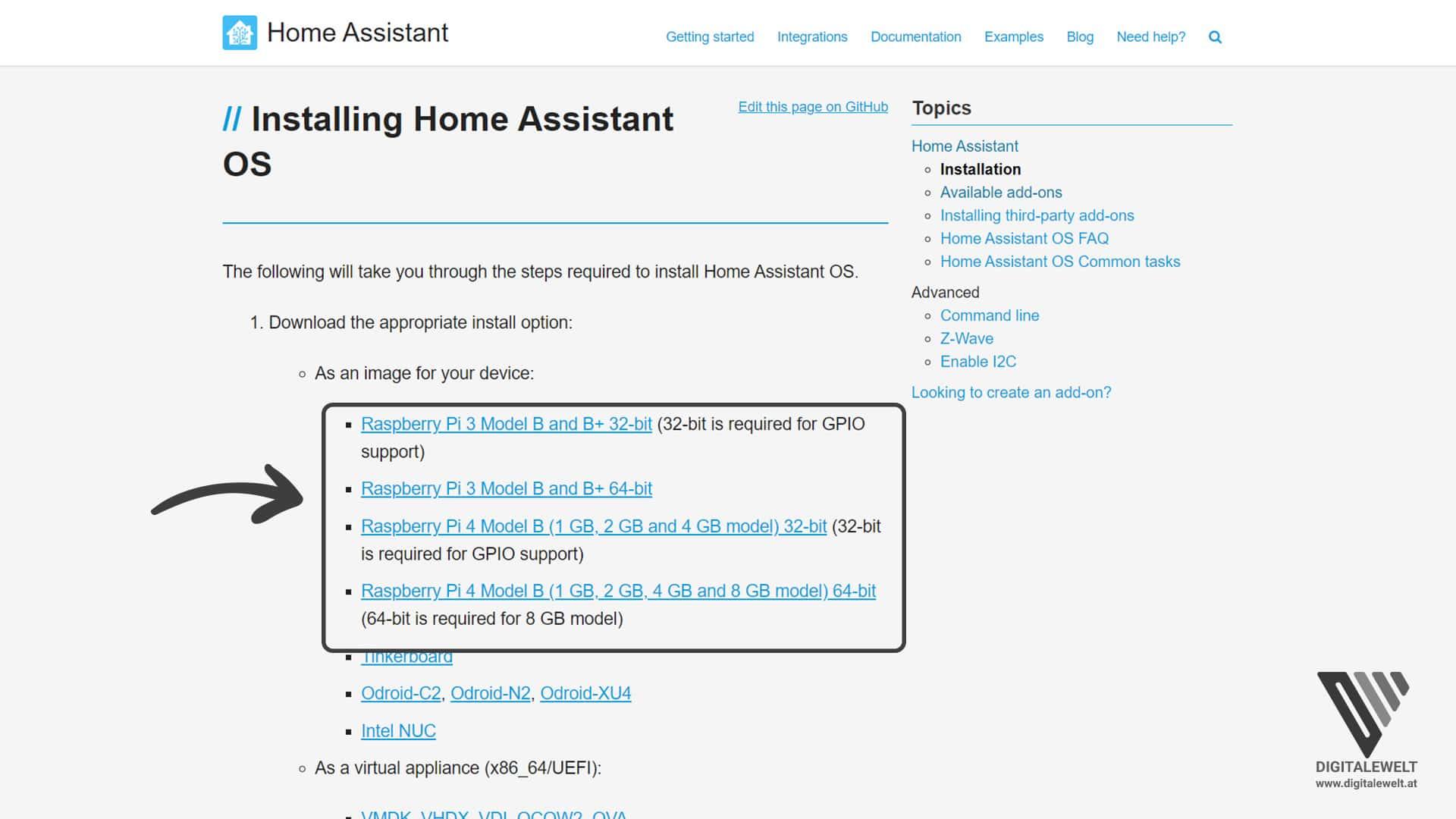Home Assistant auf dem Raspberry Pi installieren - Image herunterladen - digitalewelt.at