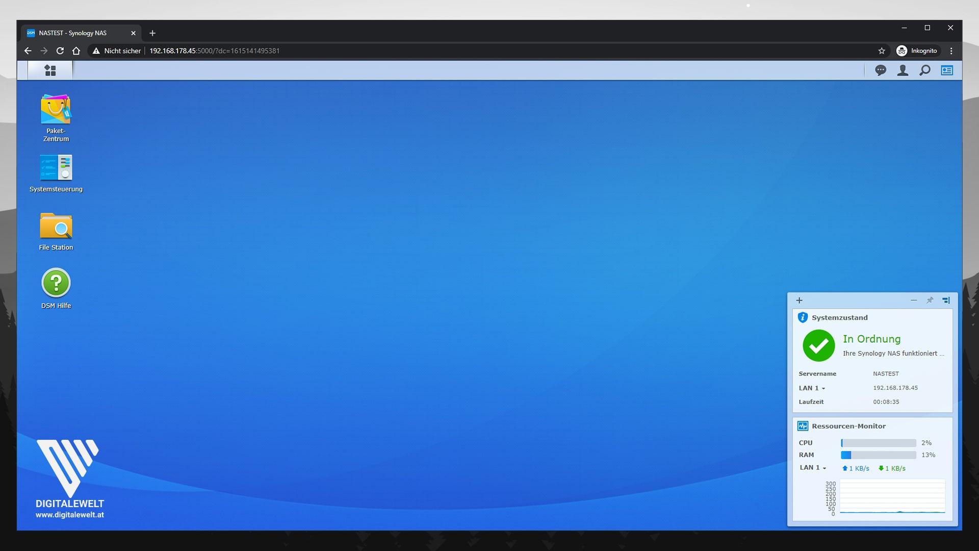 Synology DSM 7 Beta installieren - Mit DiskStation verbinden - digitalewelt.at